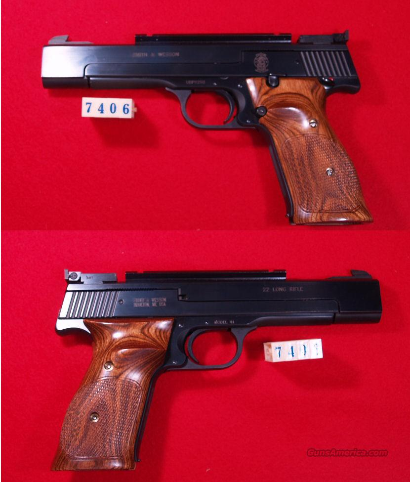 S&W  M-41  22LR  Guns > Pistols > Smith & Wesson Pistols - Autos > .22 Autos