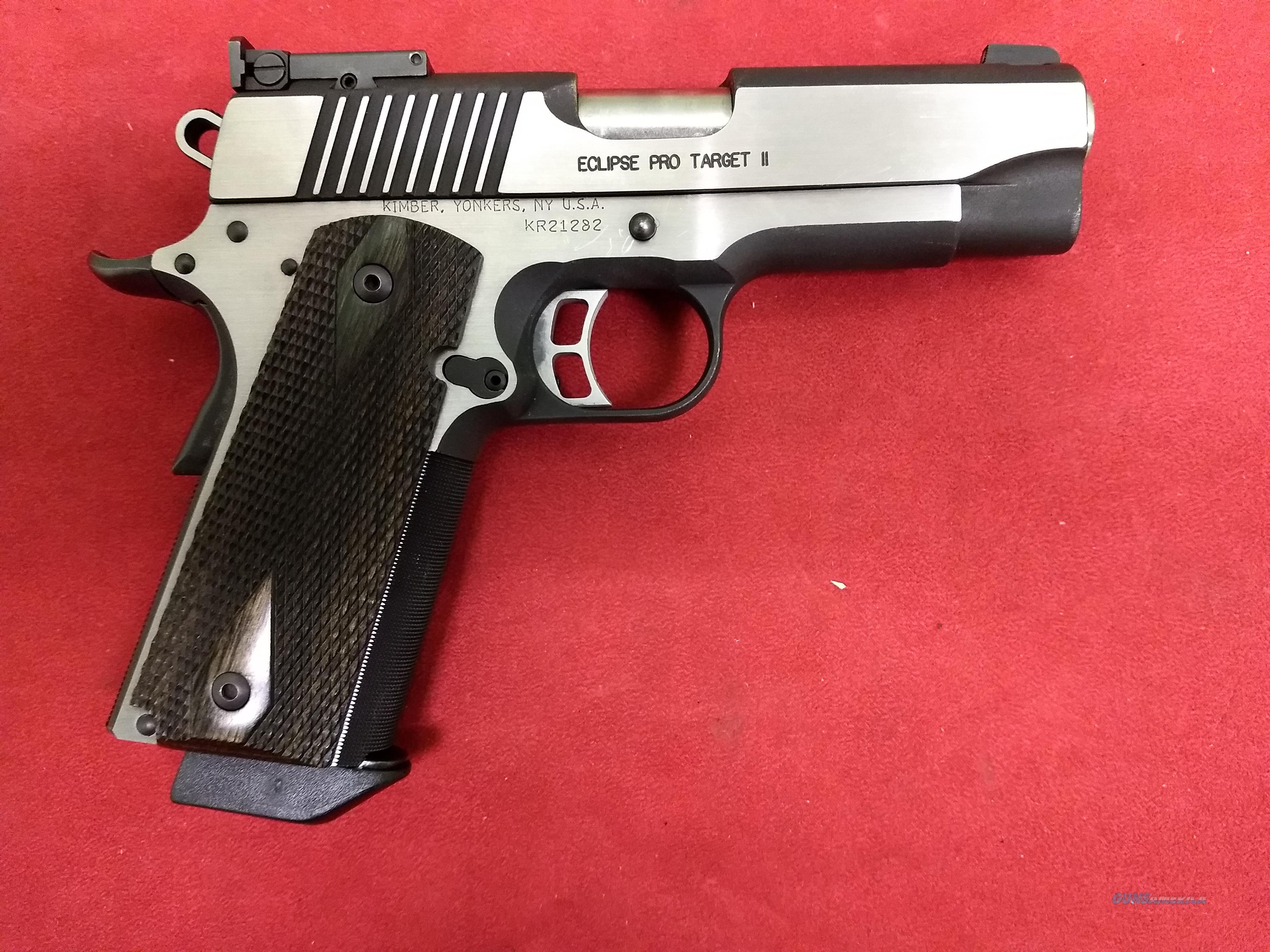 Kimber Eclipse Pro Target II, .45 ACP  Guns > Pistols > Kimber of America Pistols > 1911