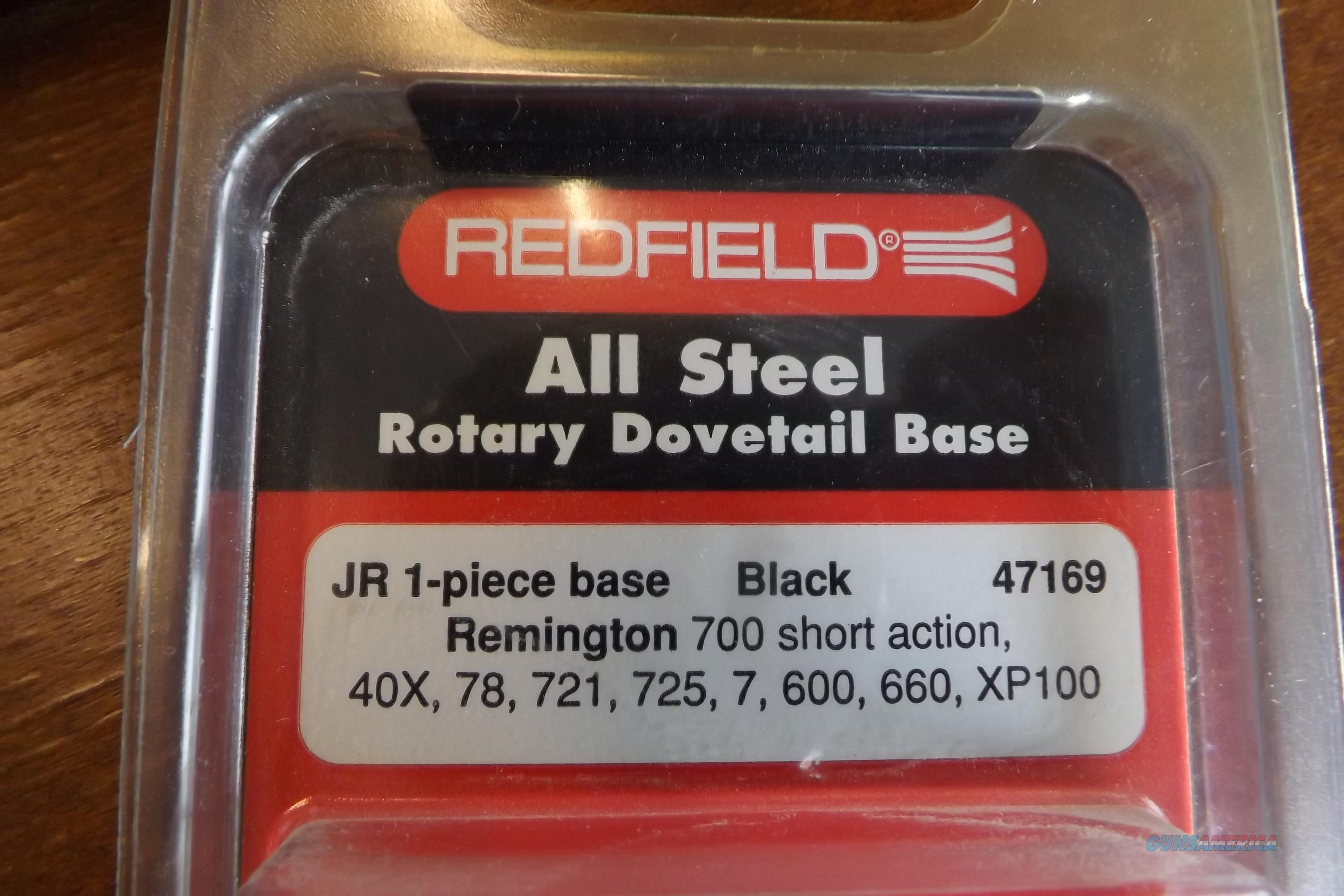 Redfield JR. Steel Rotary Dovetail Scope Mount Base Short Action Rem. 700, 721, 725,40X,78,7,600,660,XP100   Non-Guns > Scopes/Mounts/Rings & Optics > Mounts > Other