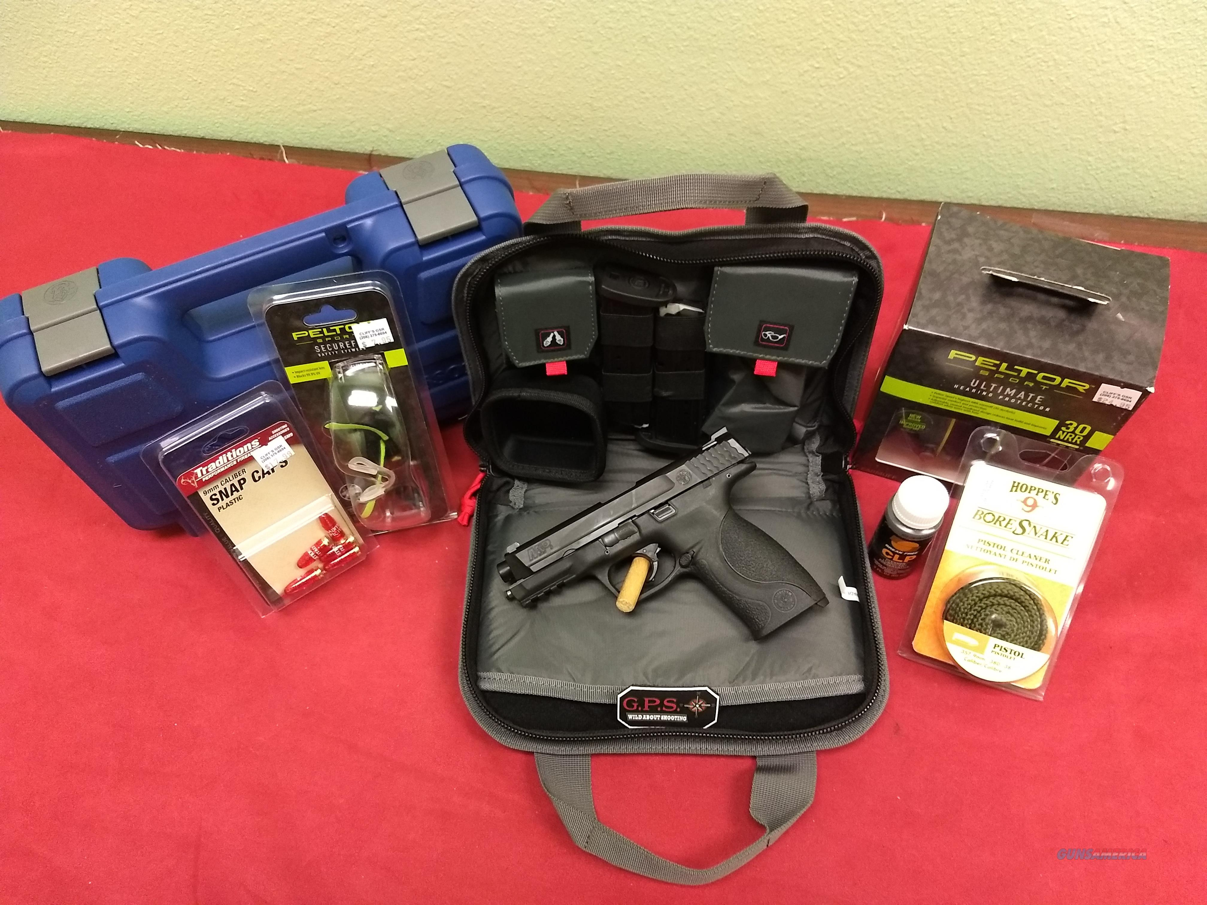 NEW SHOOTER PACKAGE! S&W M&P 9mm Pistol + ACCESSORIES!  Guns > Pistols > Smith & Wesson Pistols - Autos > Polymer Frame