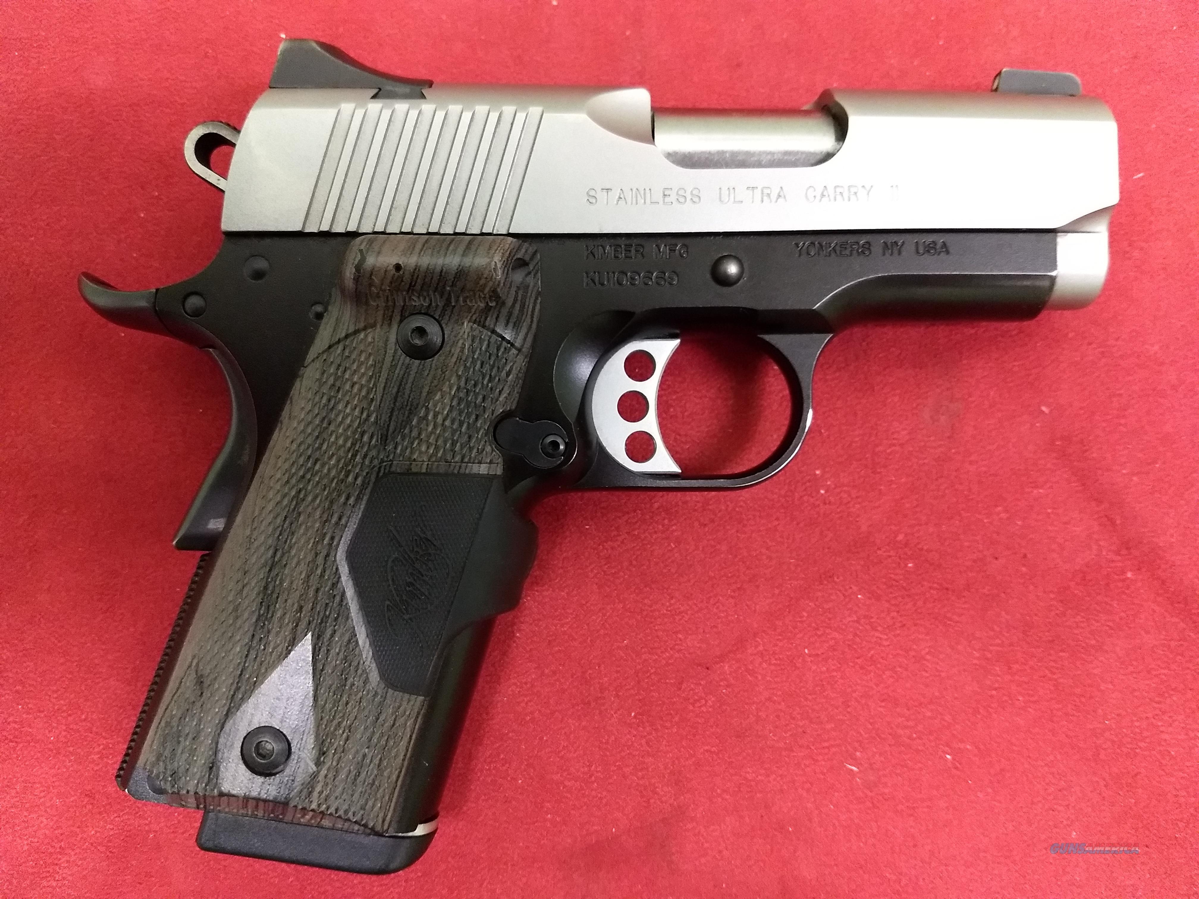 Kimber Stainless Ultra Carry II, .45 ACP, Almost Like New!  Guns > Pistols > Kimber of America Pistols > 1911