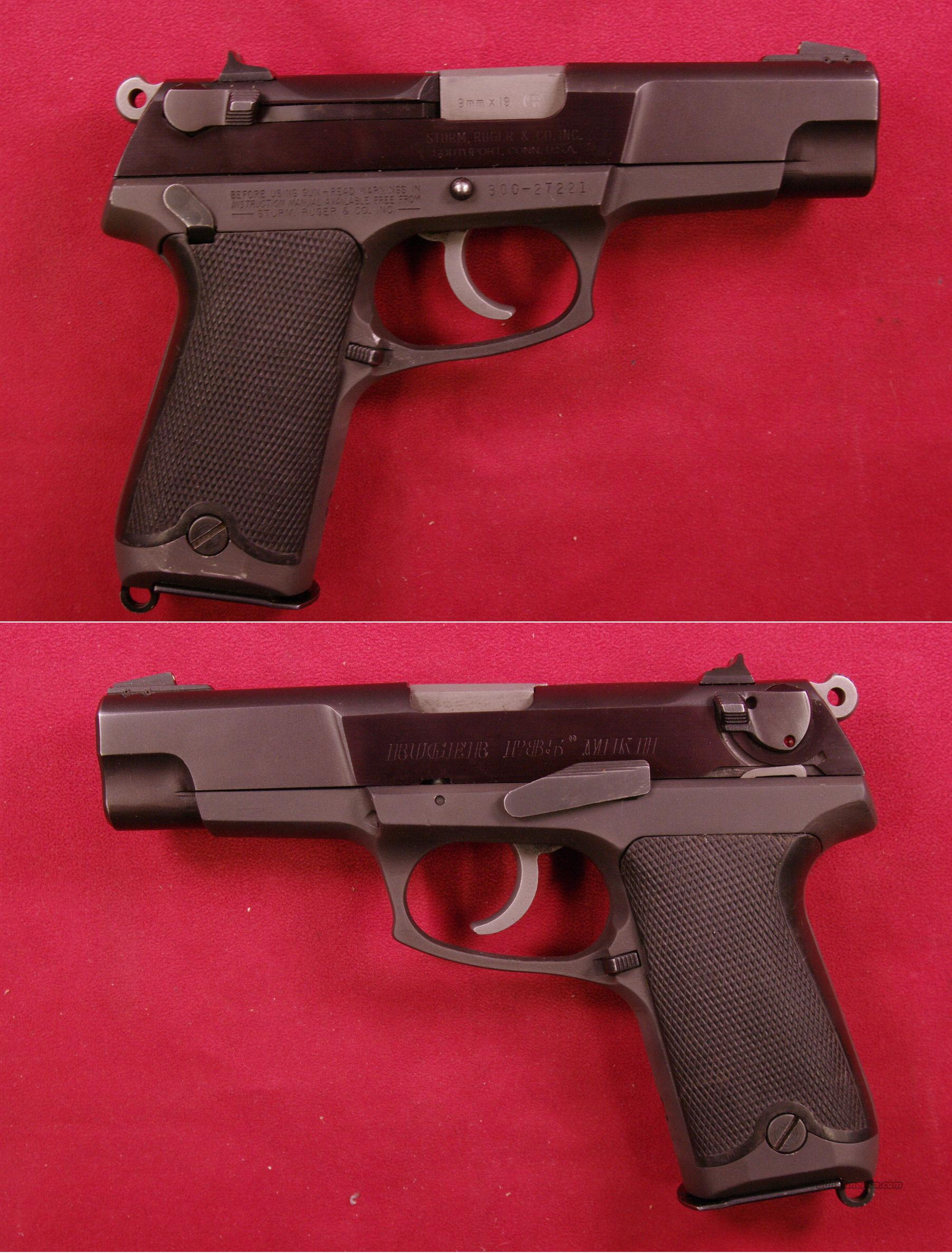 Ruger P85 9mm   Guns > Pistols > Ruger Semi-Auto Pistols > P-Series