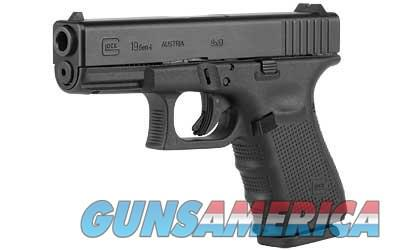 Glock 19 Gen4 9M 15+1 blck 3 mags  Guns > Pistols > Glock Pistols > 19