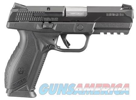 "Ruger American, Centerfire Pistol, 9MM, 4.2"" Barrel, Polymer Frame, Black Finish, 2-17Rd Magazines, Novak Mount 3-Dot Sights Guns > Pistols > Ruger Semi-Auto Pistols > American Pistol"