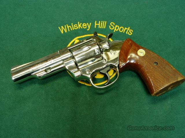 "COLT TROOPER MKIII 4"" NICKLE  Guns > Pistols > Colt Double Action Revolvers- Modern"