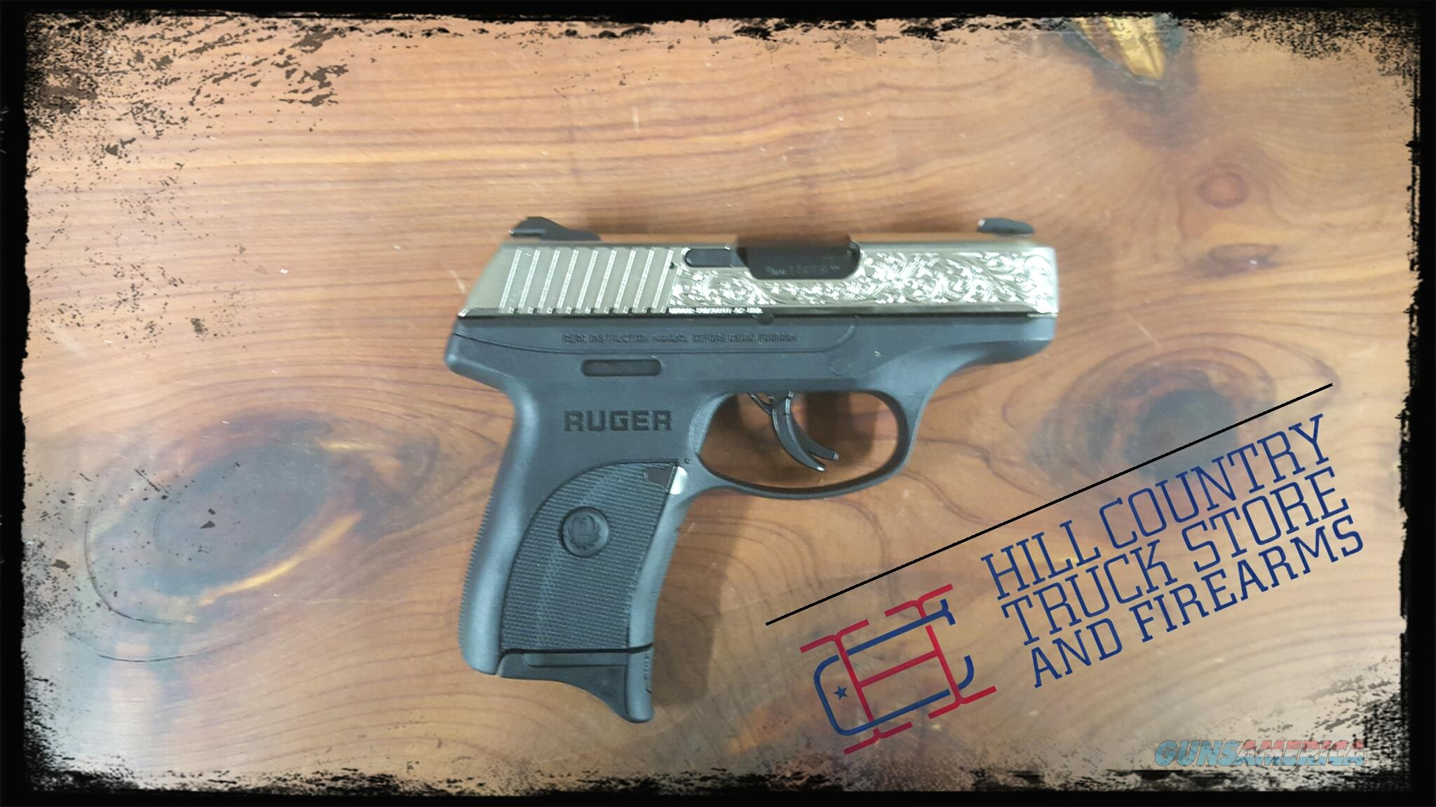 RUG TALO LC9S 9MM ENGRAVED NICKEL  Guns > Pistols > Ruger Semi-Auto Pistols > LC9