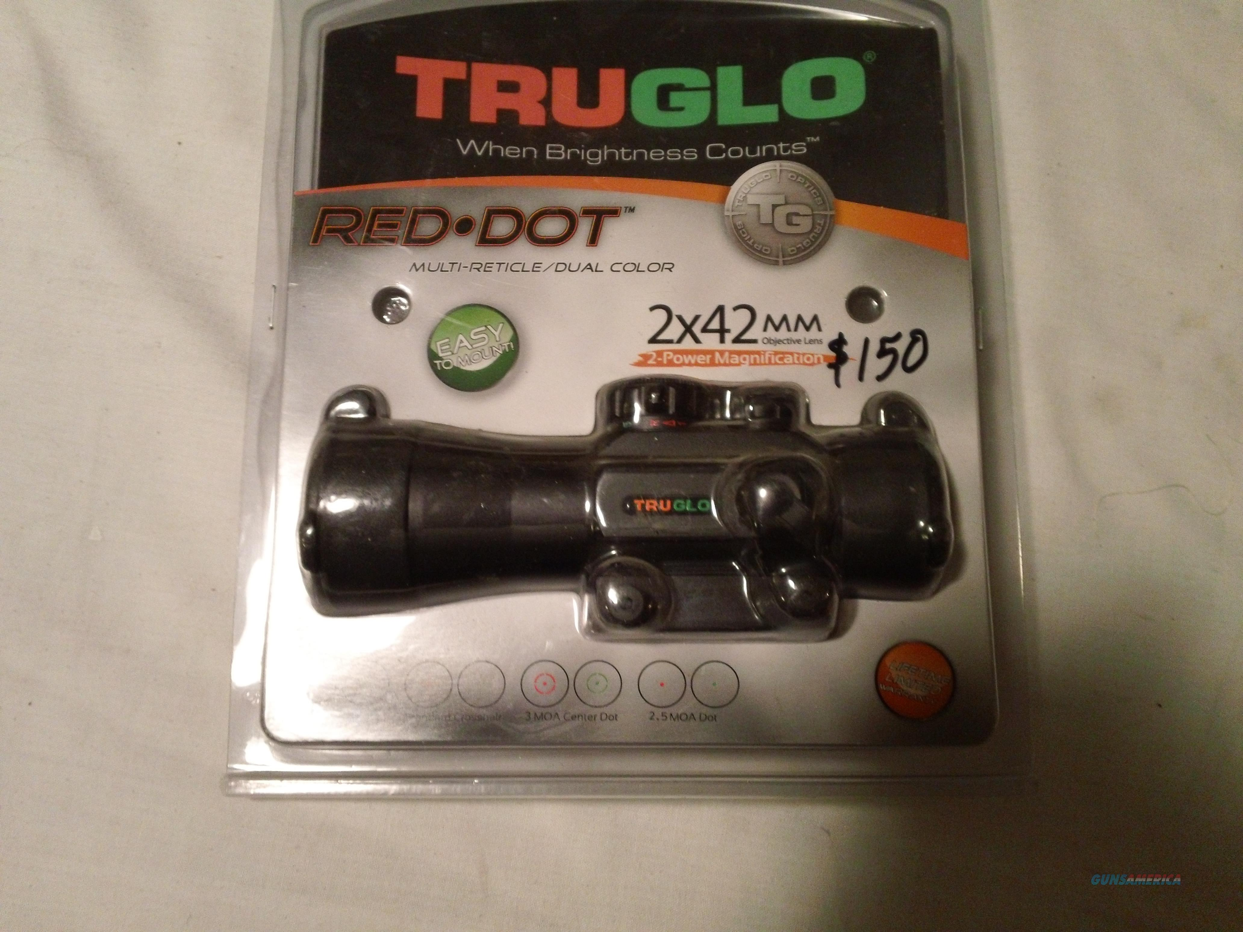 Truglo red dot 2x42 multi reticle  Non-Guns > Scopes/Mounts/Rings & Optics > Tactical Scopes > Red Dot