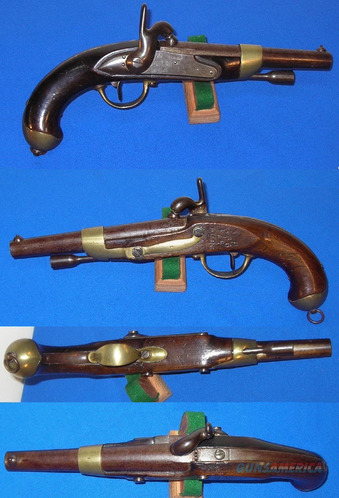 French Model 1822/42 Percussion Converted Pistol  Guns > Pistols > Antique (Pre-1899) Pistols - Perc. Misc.