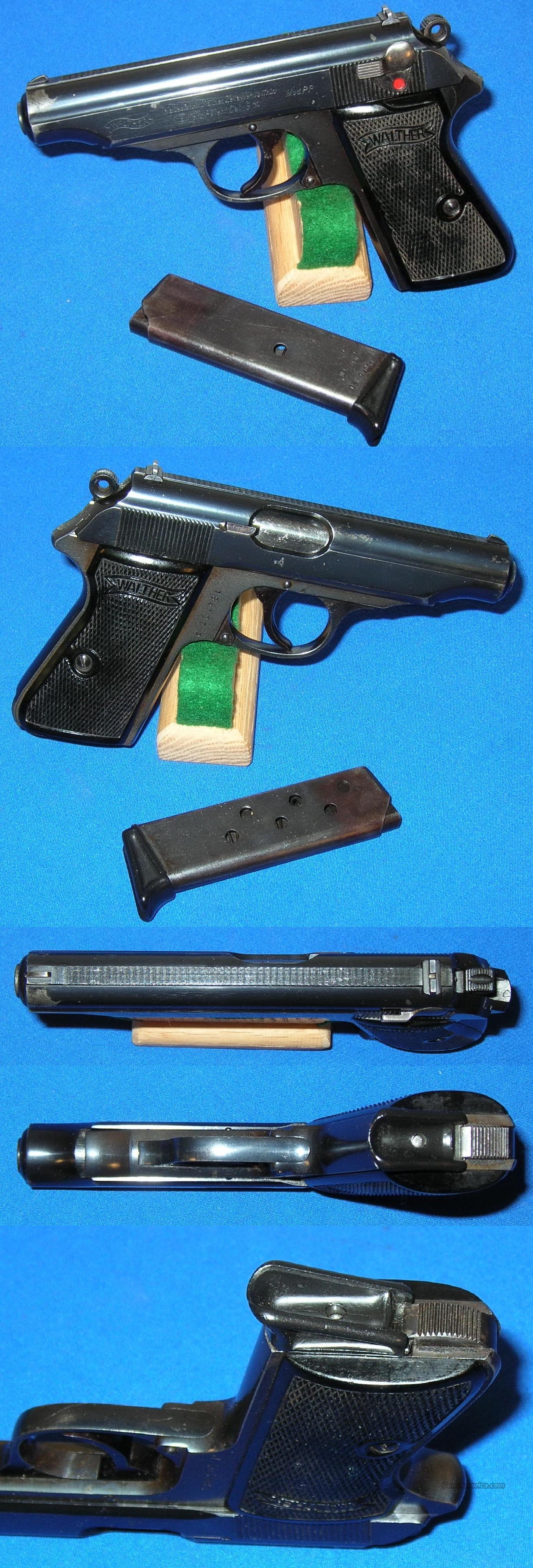 "Walther PP Pistol ""Rare"" Bottom Magazine Release  Guns > Pistols > Walther Pistols > Pre-1945 > PP"