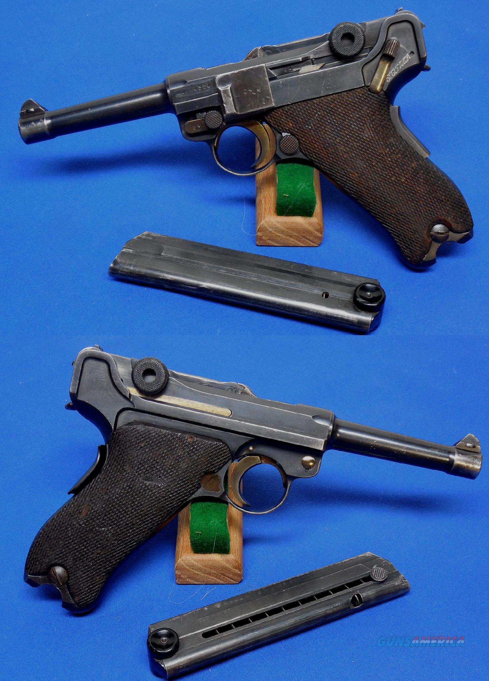 """Luger Mauser Banner 06/34 """"Portuguese Contract"""" Pistol. """"Extremely Rare""""  Guns > Pistols > Luger Pistols"""