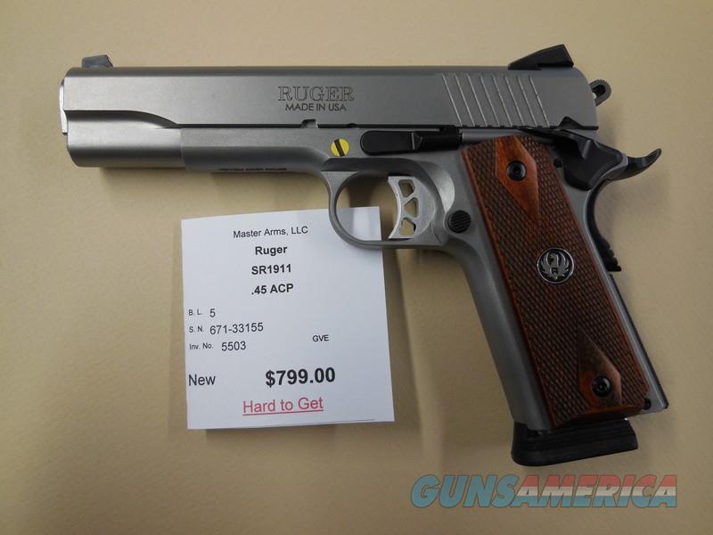 RUGER SR1911  Guns > Pistols > Ruger Semi-Auto Pistols > 1911