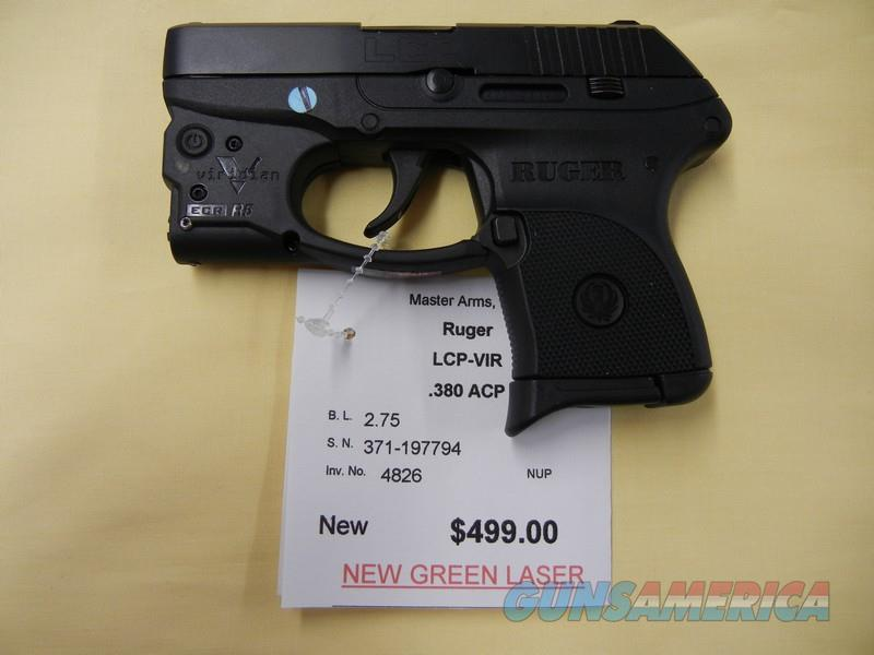 RUGER LCP w/ VIRIDIAN GREN LASER  Guns > Pistols > Ruger Semi-Auto Pistols > LCP