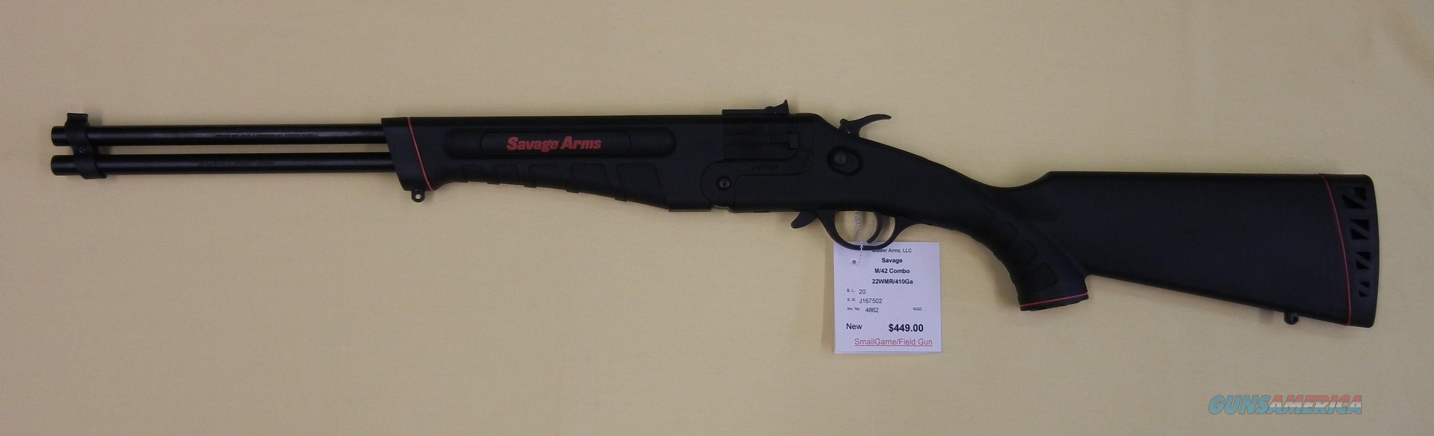 SAVAGE 42 TAKEDOWN  Guns > Rifles > Savage Rifles > 42