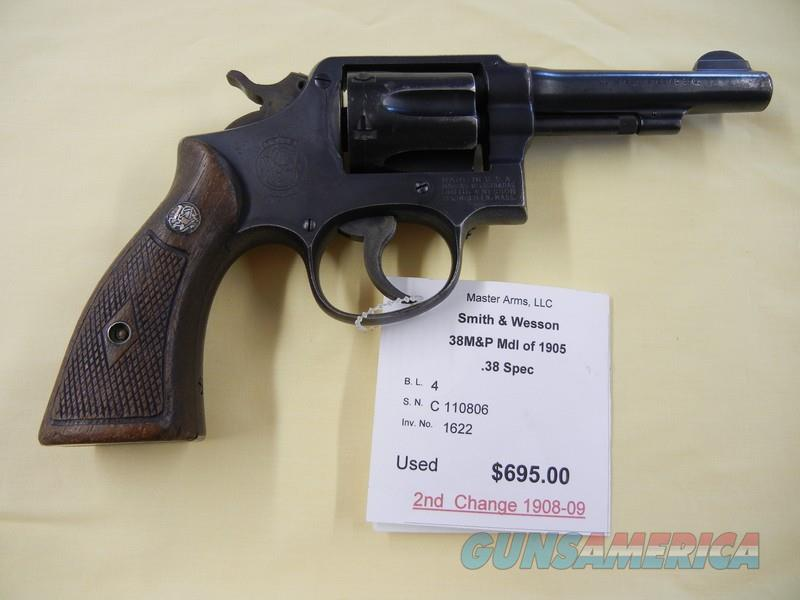 SMITH & WESSON 38M&P (1905)  Guns > Pistols > Smith & Wesson Revolvers > Med. Frame ( K/L )