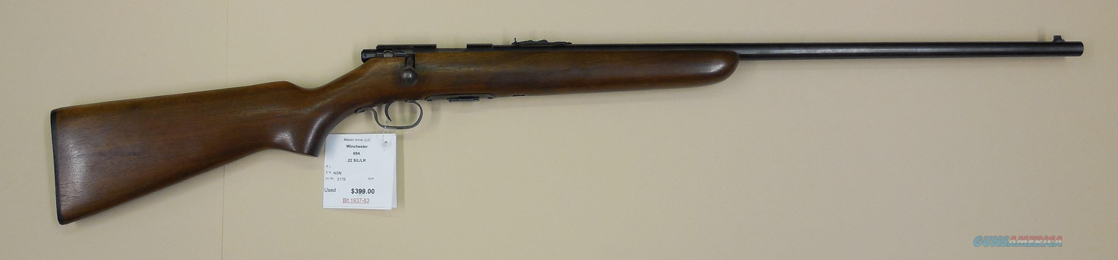 WINCHESTER 69A  Guns > Rifles > Winchester Rifles - Modern Bolt/Auto/Single > Other Bolt Action