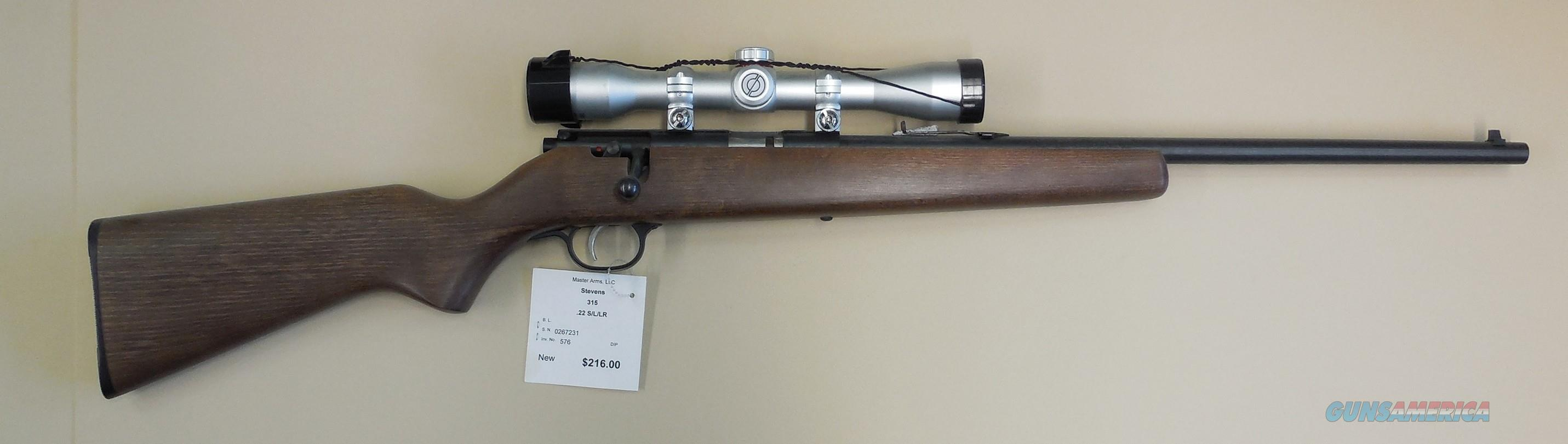 STEVENS 315 YOUTH   Guns > Rifles > Stevens Rifles