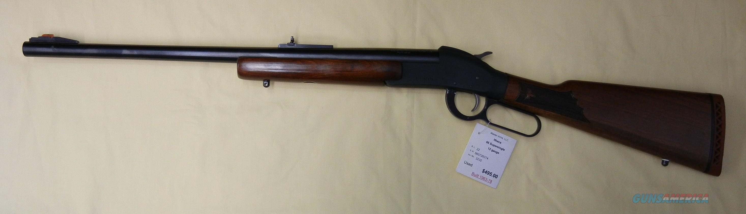ITHACA 66 SUPERSINGLE  Guns > Shotguns > Ithaca Shotguns > Single Bbl > Sporting/Hunting