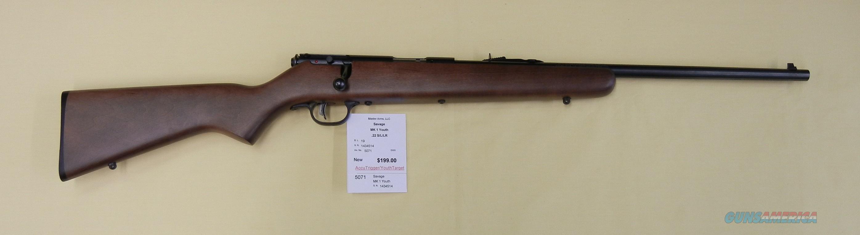 SAVAGE MK1 YOUTH  Guns > Rifles > Savage Rifles > Rimfire