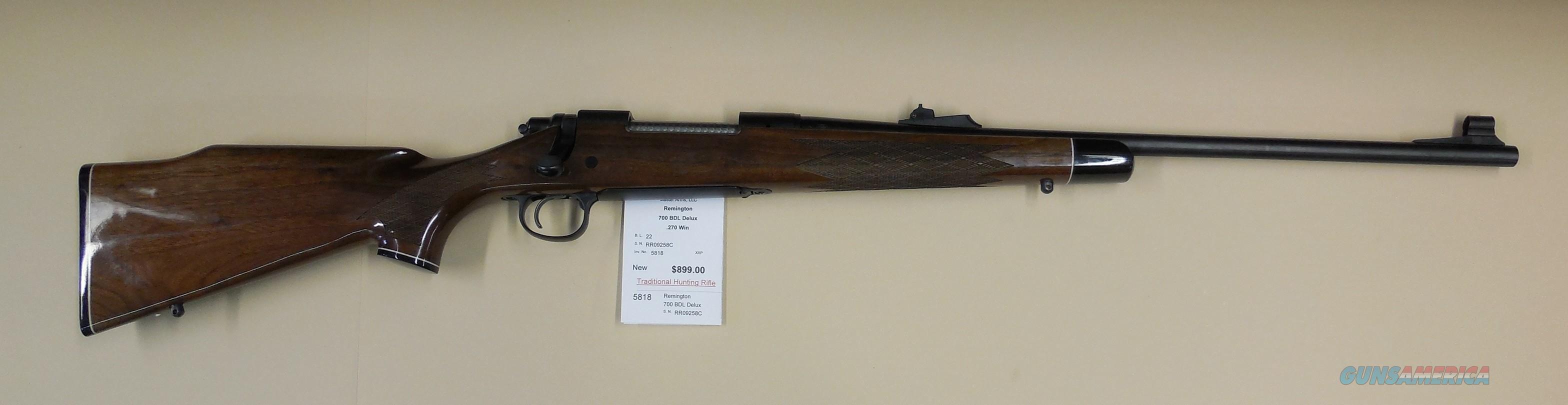 REMINGTON 700 BDL DELUXE  Guns > Rifles > Remington Rifles - Modern > Model 700 > Sporting