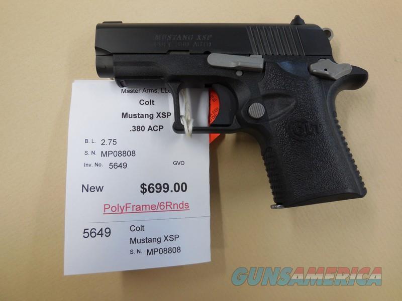 COLT MUSTANG XSP  Guns > Pistols > Colt Automatic Pistols (.25, .32, & .380 cal)