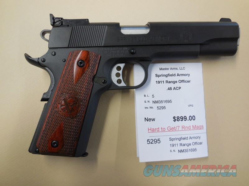 SPRINGFIELD ARMORY 1911 RANGE OFFICER  Guns > Pistols > Springfield Armory Pistols > 1911 Type