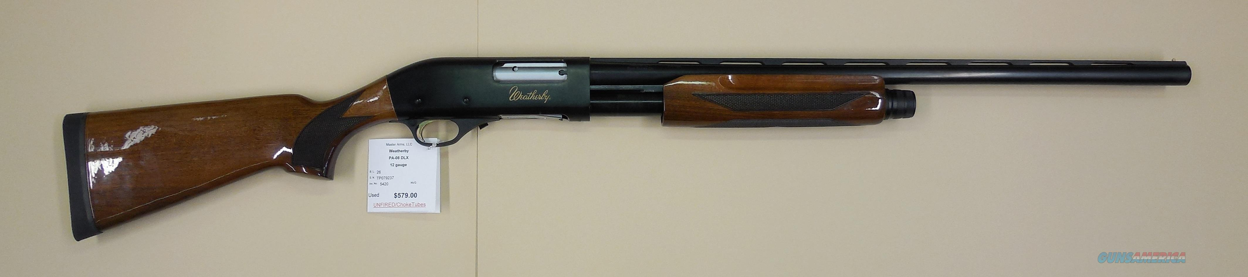 WEATHERBY PA-08 DELUXE  Guns > Shotguns > Weatherby Shotguns > Trap/Skeet > Single Barrel