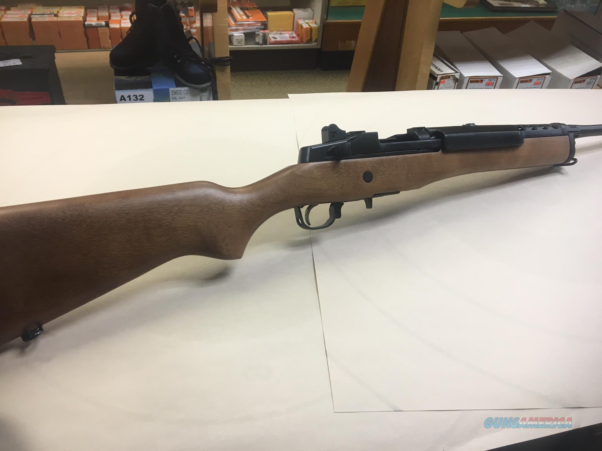 Ruger model mini-14 with wood stock 5.56 Caliber  Guns > Rifles > Ruger Rifles > Mini-14 Type
