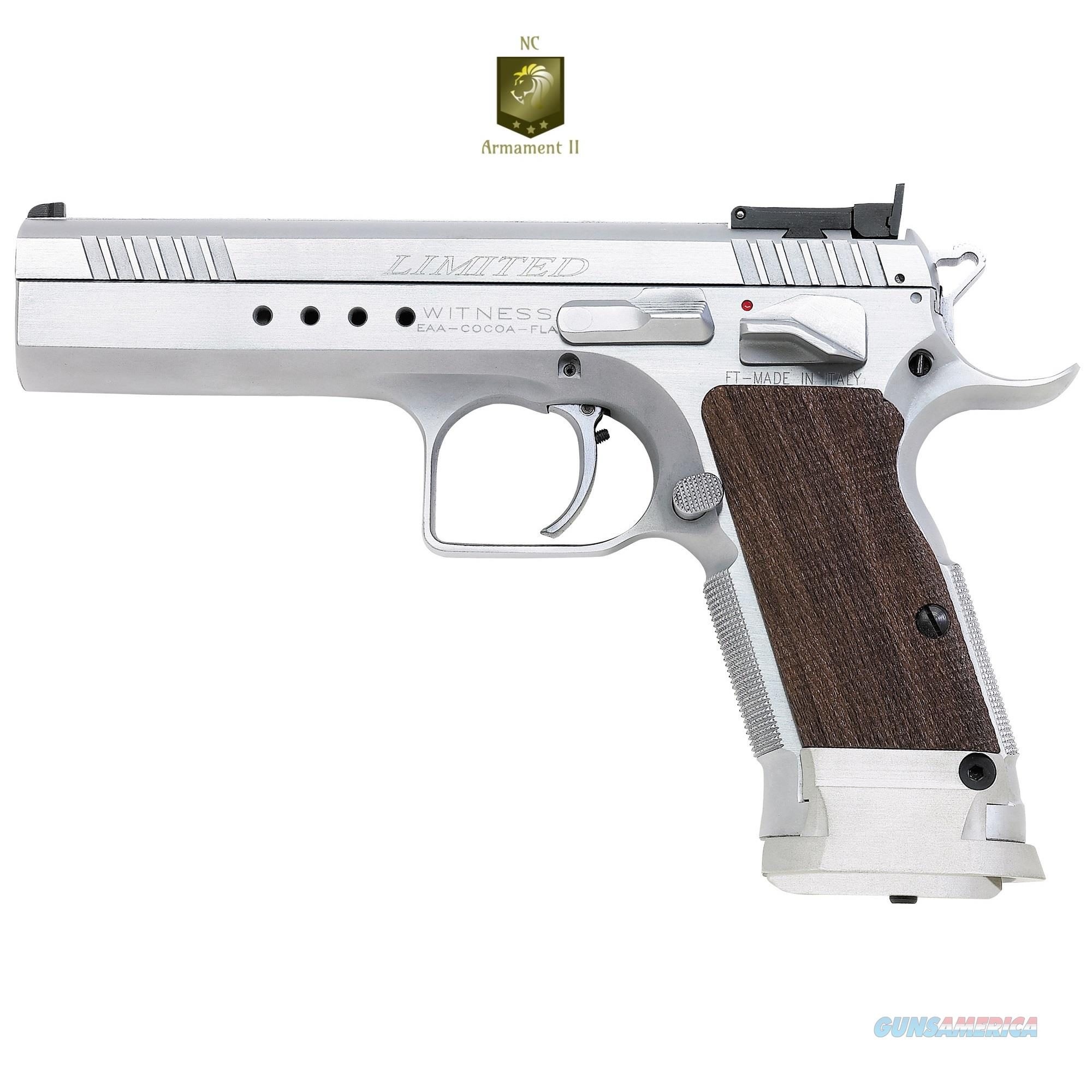 EAA Limited Witness Tanfoglio 10mm Walnut Grips  Guns > Pistols > EAA Pistols > Other