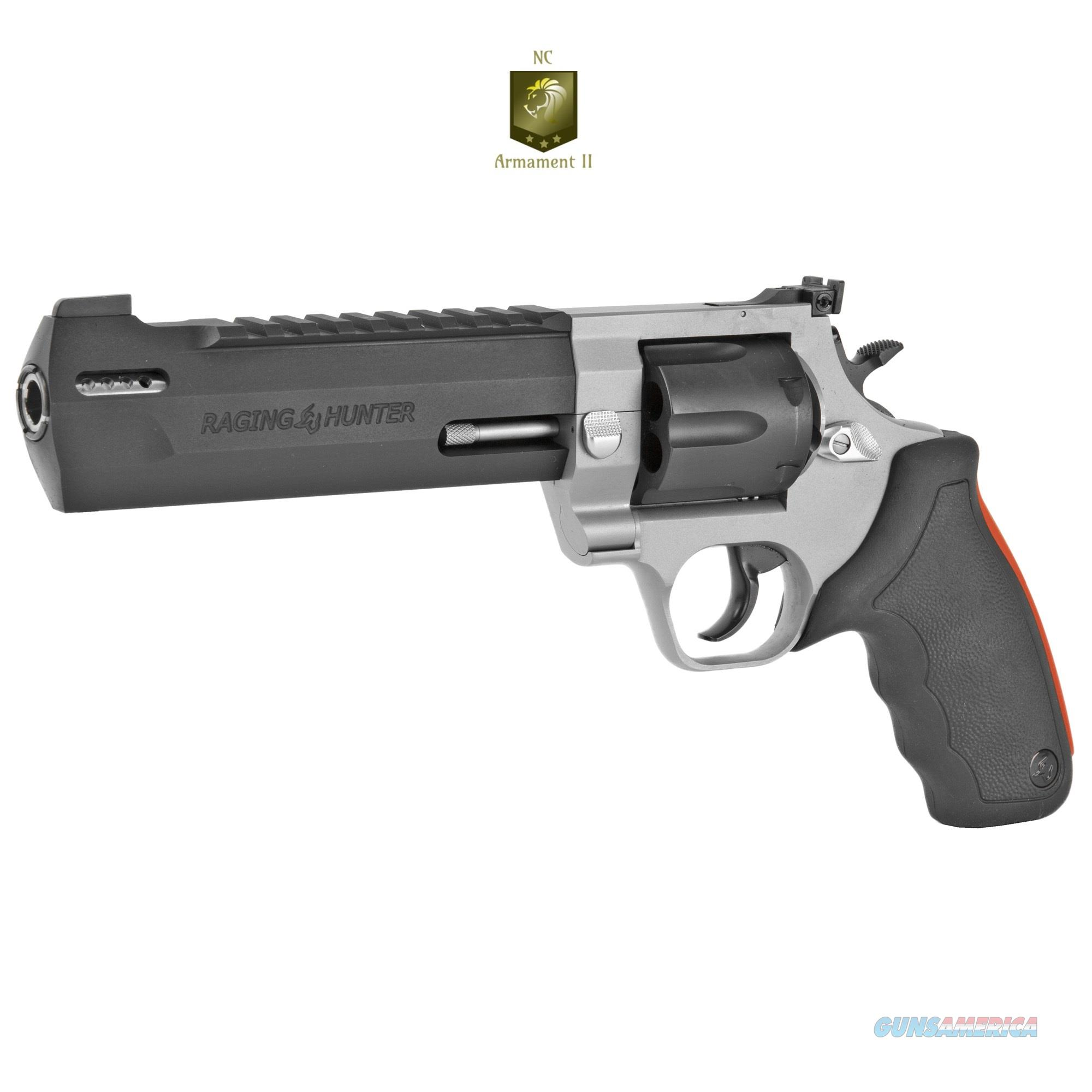 Taurus Raging Hunter 44mag 6.75 Inch Barrel Two-Tone  Guns > Pistols > Taurus Pistols > Revolvers