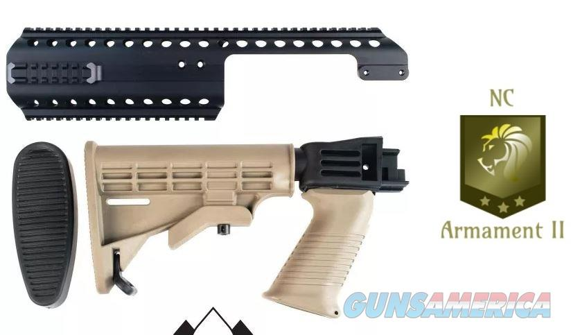 Saiga Stock Set FDE With Black Aces Quad Rail  Non-Guns > Gun Parts > Shotgun High Grade