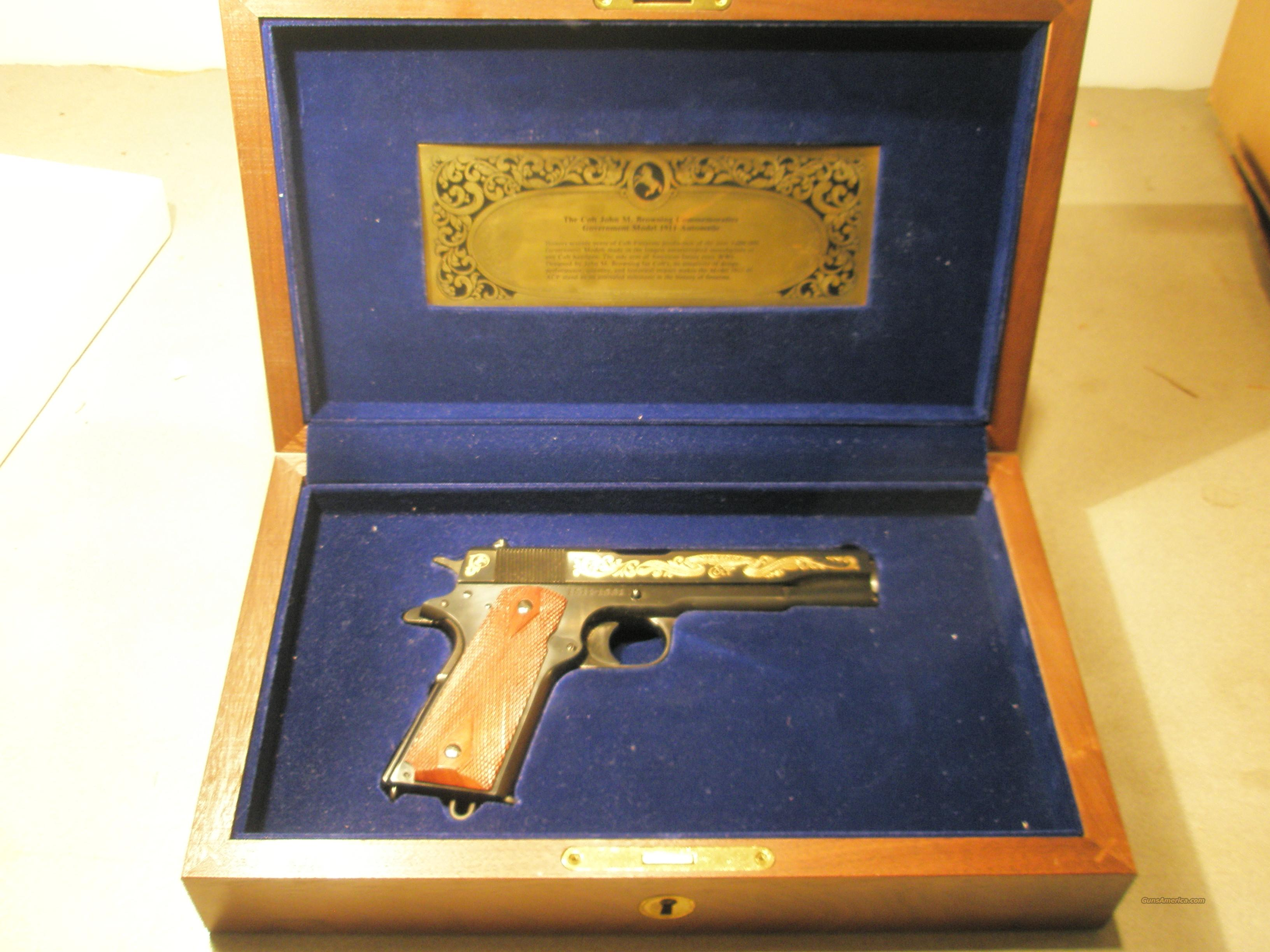 Colt 1911 /1981 John M. Browning Commemorative  Guns > Pistols > Colt Commemorative Pistols