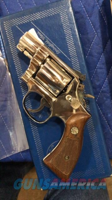 Smith and Wesson model 15-3 2inch Nickel Snub Nosed Gorgeous  Guns > Pistols > Smith & Wesson Revolvers > Med. Frame ( K/L )