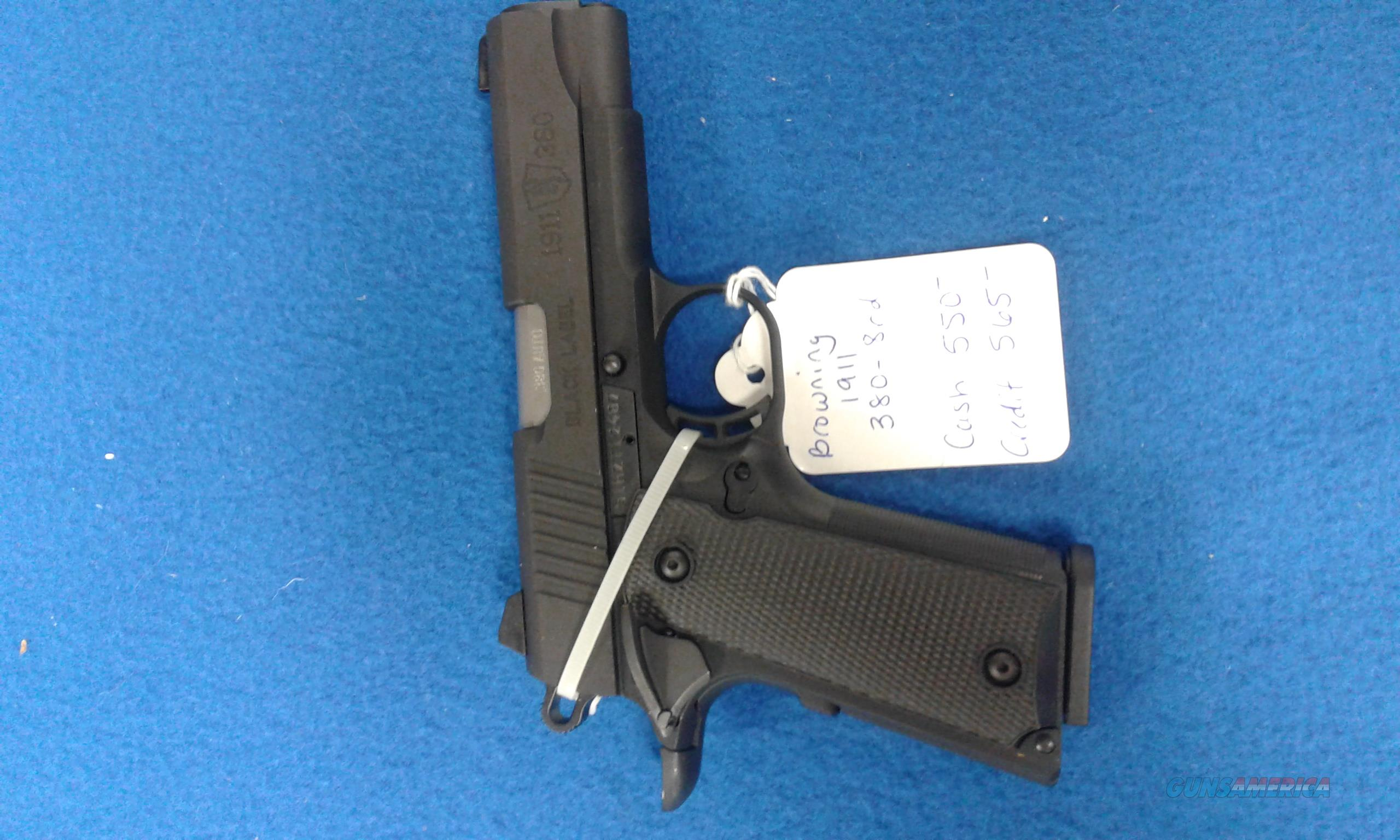 BROWNING 1911 380 CALIBER BLACK LABEL 8RD  Guns > Pistols > Browning Pistols > Baby Browning