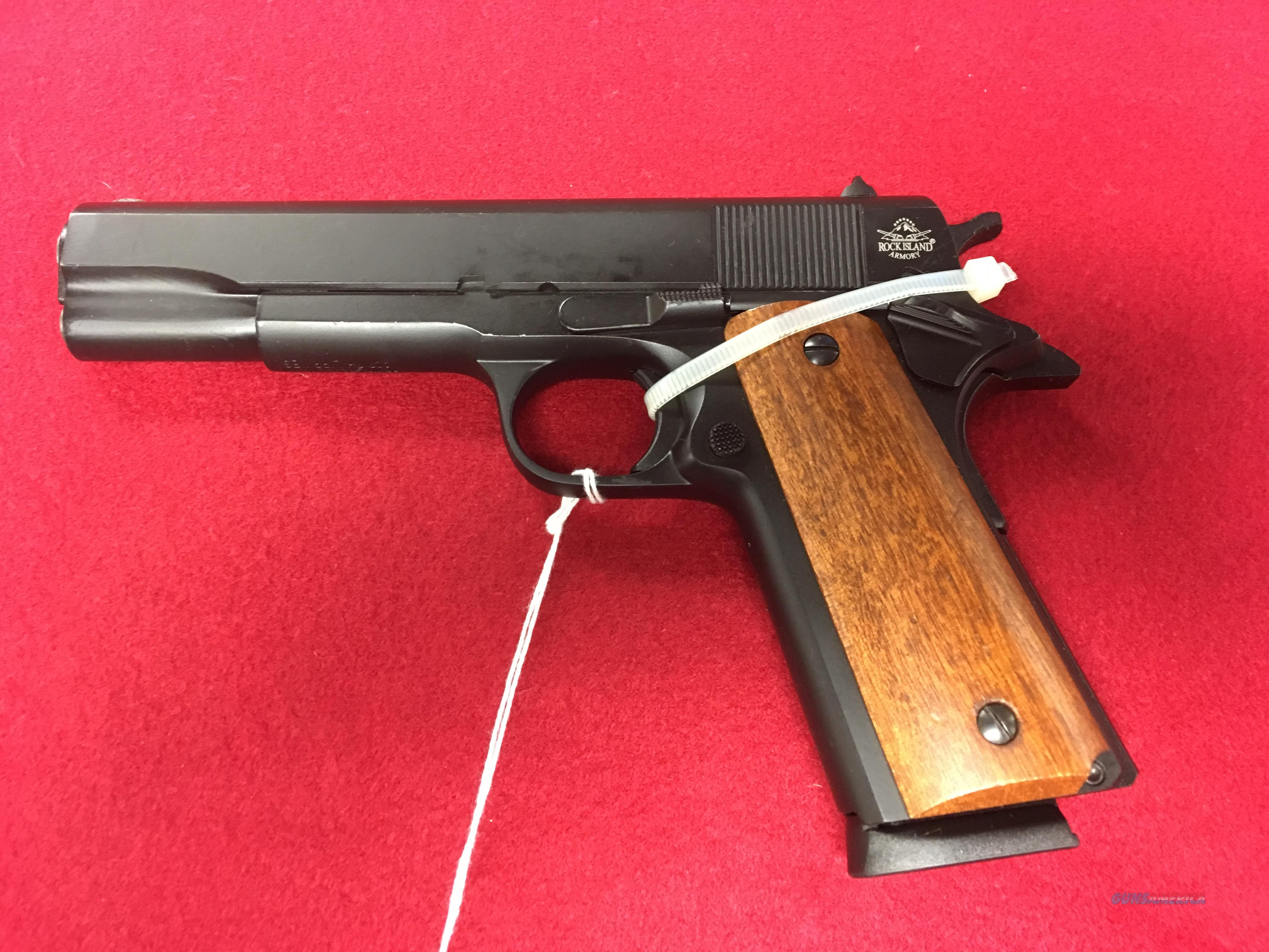 ROCK ISLAND ARMORY 45 ACP BLACK DURACOAT FINISH NEW  Guns > Pistols > Armscor Pistols > Rock Island
