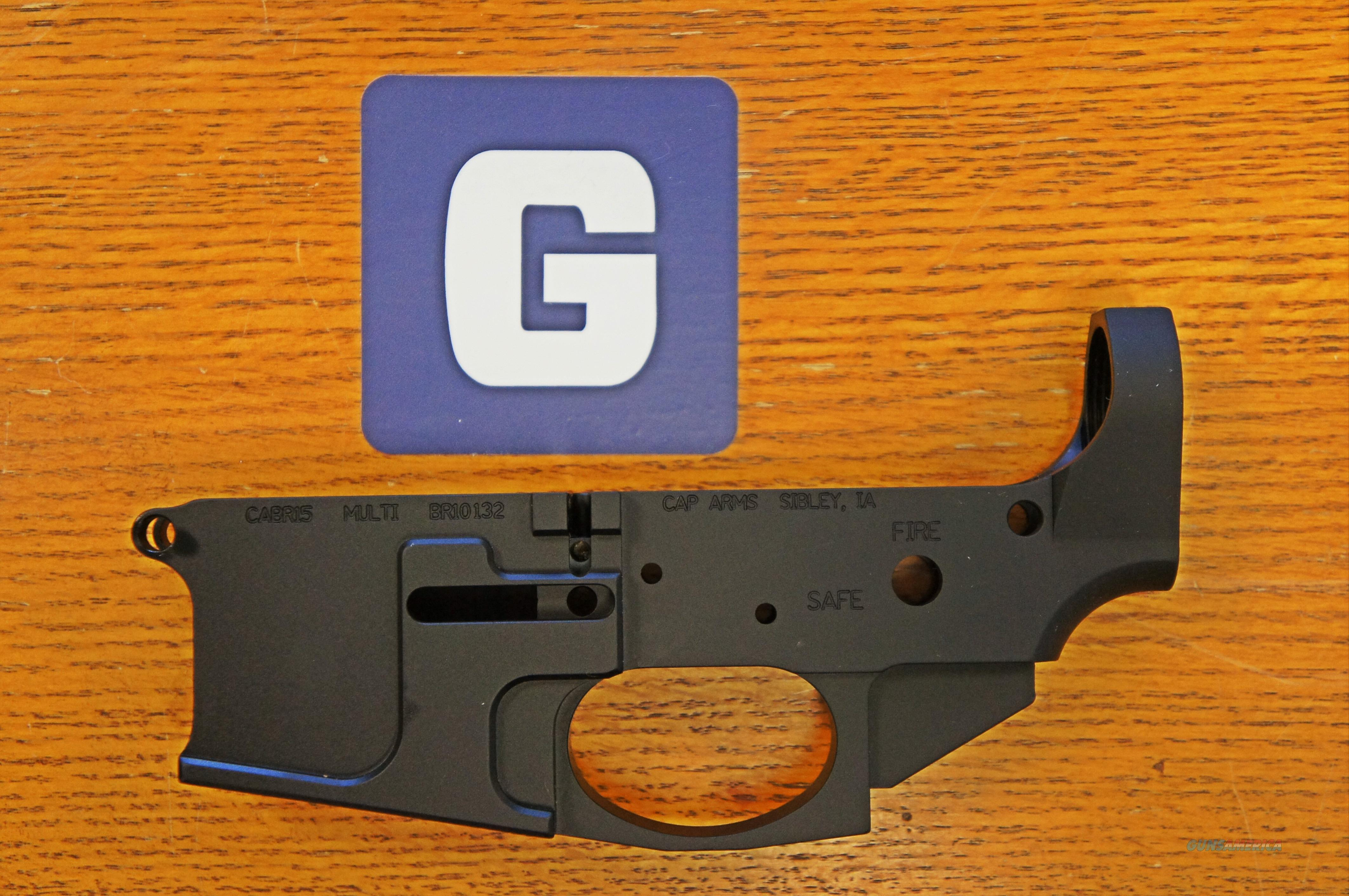 CapArms Billet AR15 Lower  Guns > Rifles > AR-15 Rifles - Small Manufacturers > Lower Only