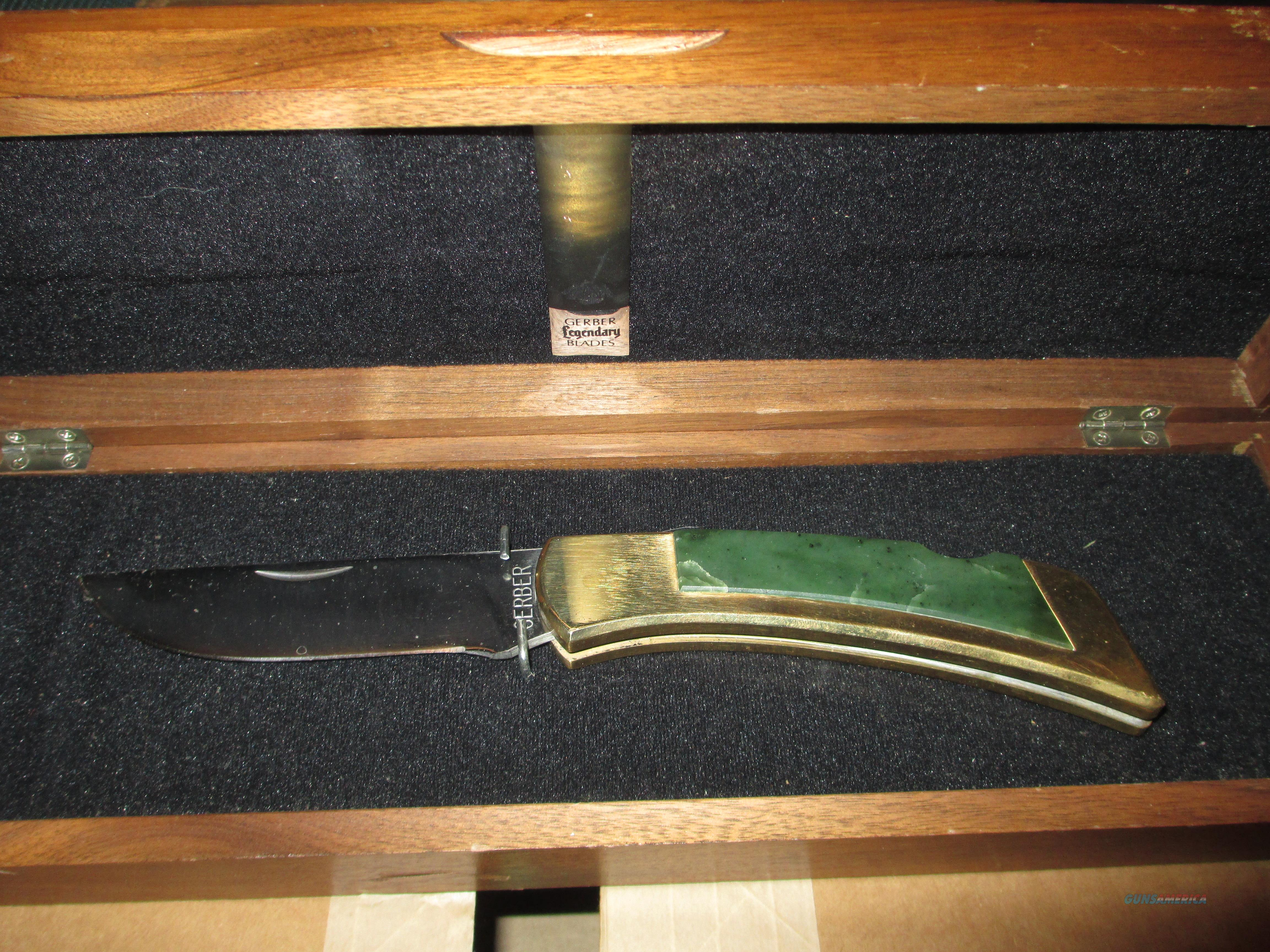 Gerber Jade handle sportsman lock back in presentation case   Non-Guns > Knives/Swords > Knives > Folding Blade > Hand Made