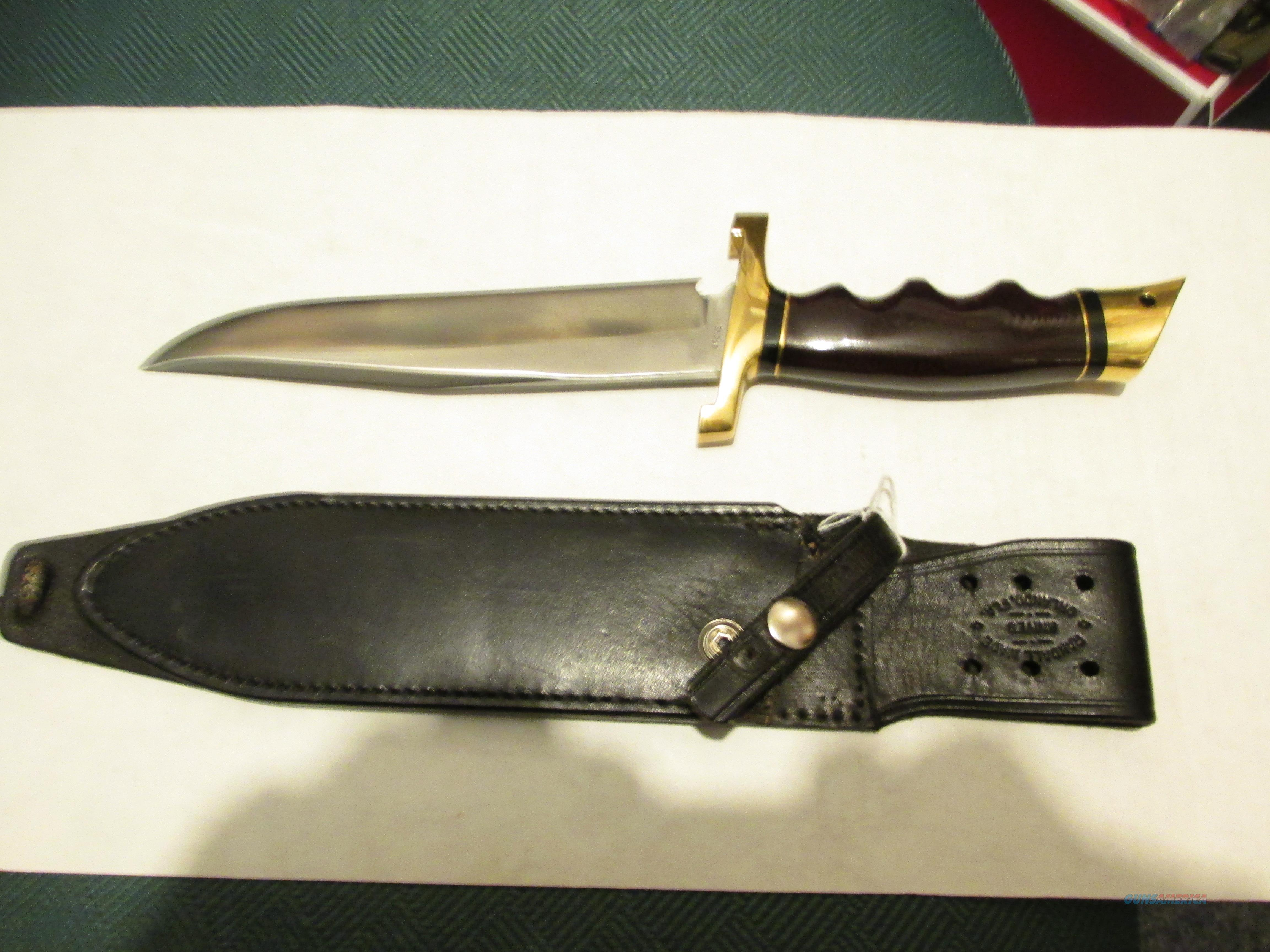 G.W STONE CUSTOM FIGHTING KNIFE 8 INCH BLADE   Non-Guns > Knives/Swords > Knives > Fixed Blade > Hand Made