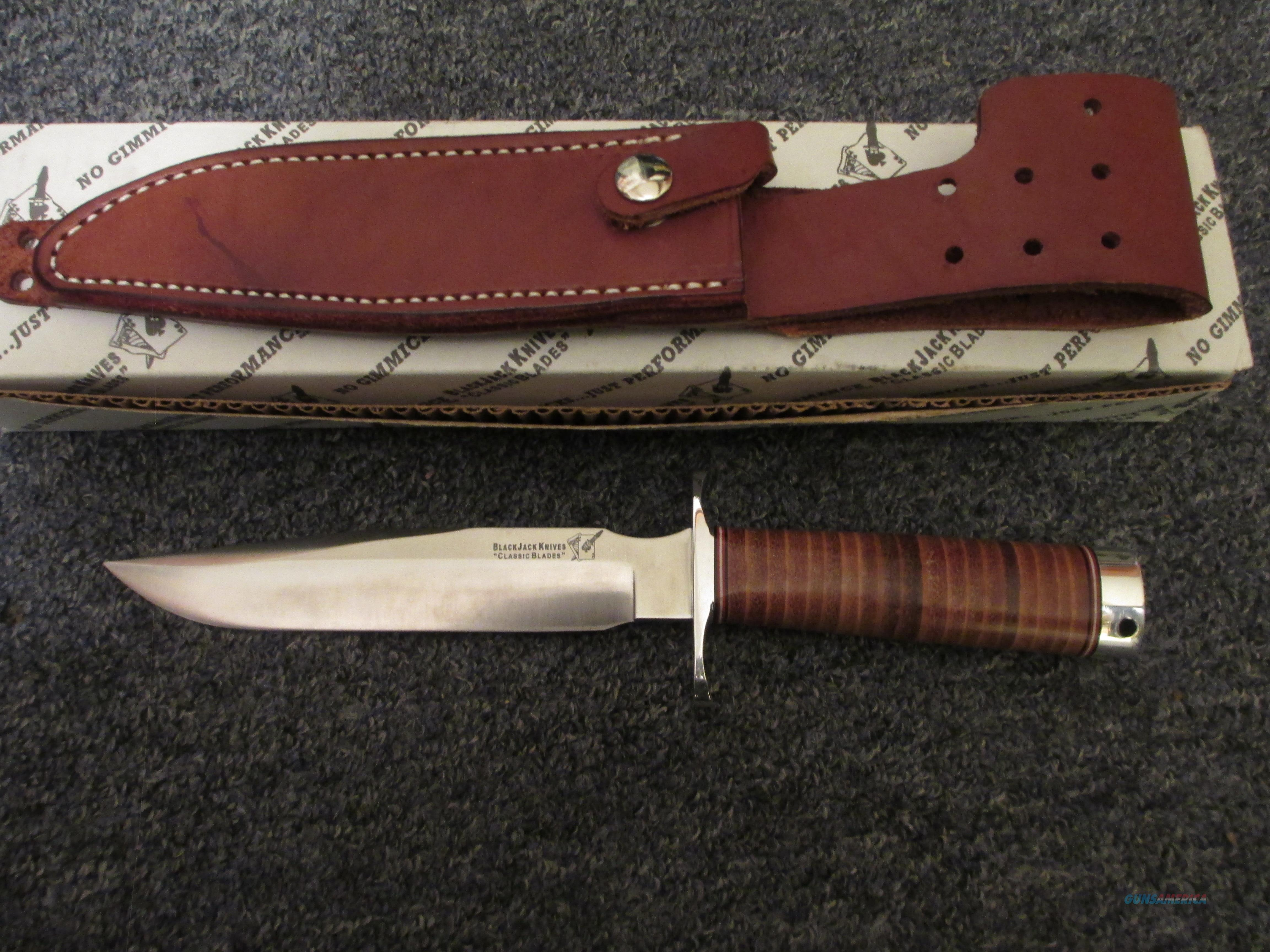 BlackJack model 1-7 with sheath in original box   Non-Guns > Knives/Swords > Knives > Fixed Blade > Hand Made