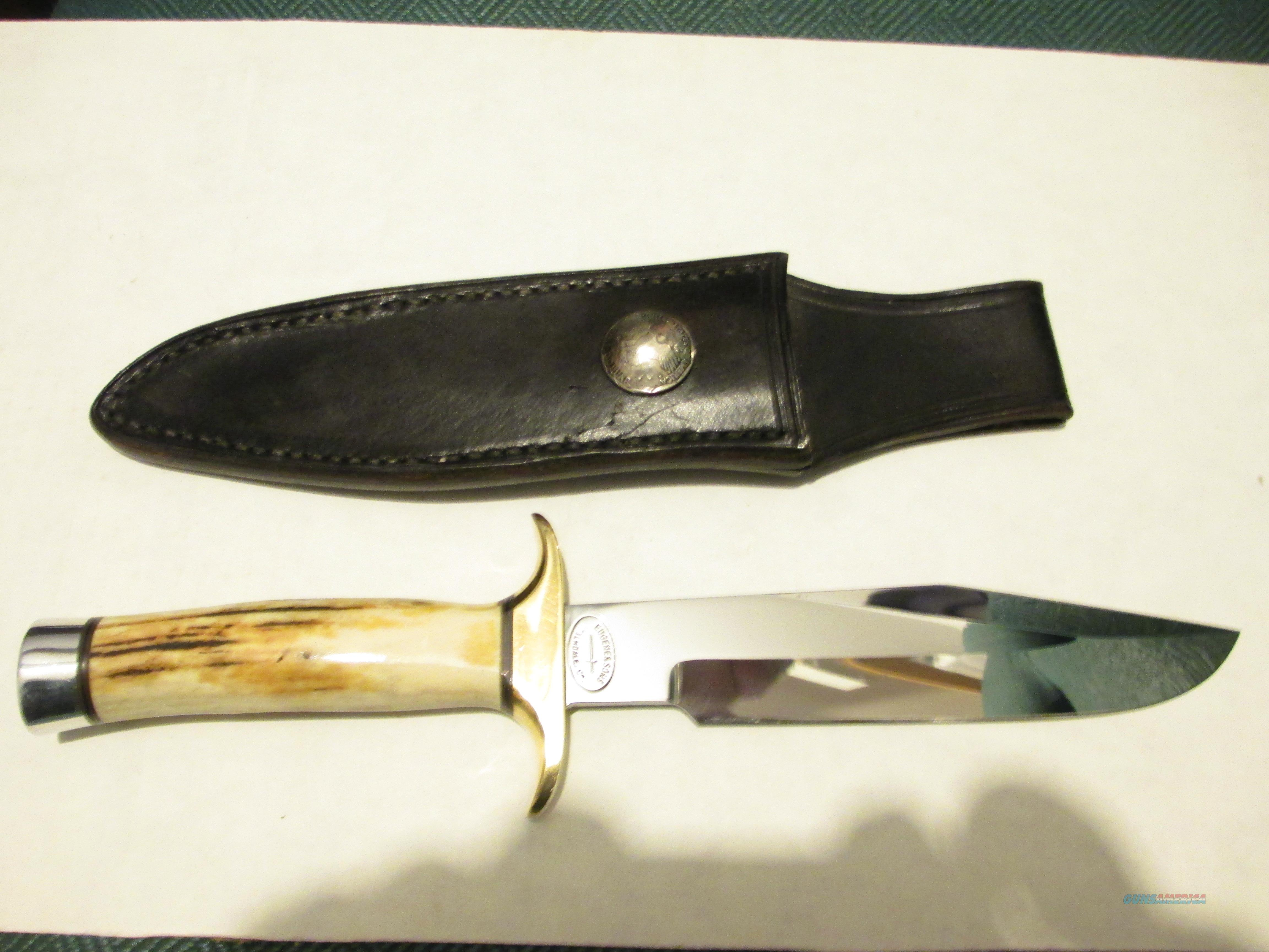 CUSTOM EUGENE & SONS BOWIE KNIFE   Non-Guns > Knives/Swords > Knives > Fixed Blade > Hand Made