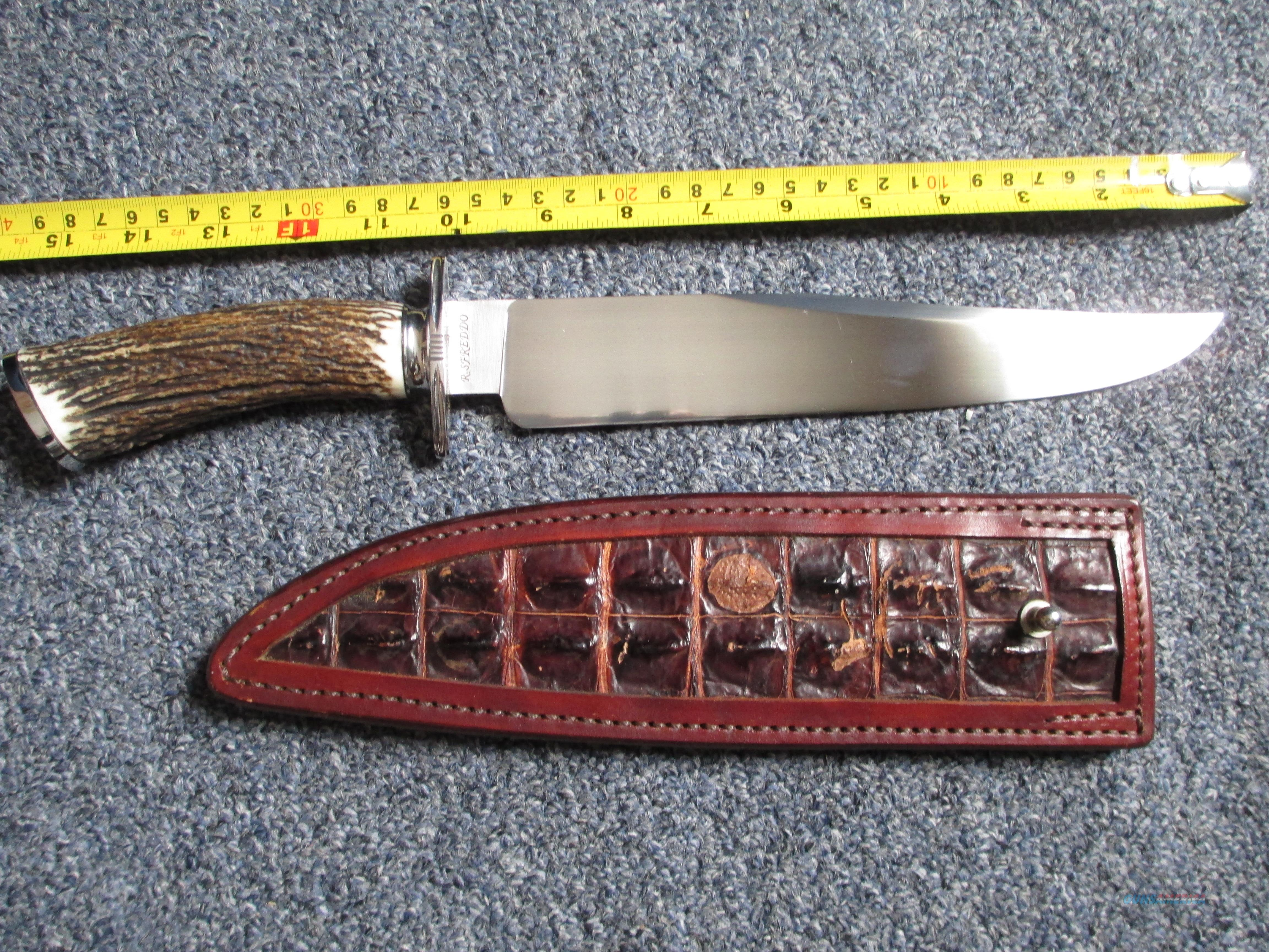 Rodrigo Sfreddo custom bowie fighter stag handle one of one  Non-Guns > Knives/Swords > Knives > Fixed Blade > Hand Made