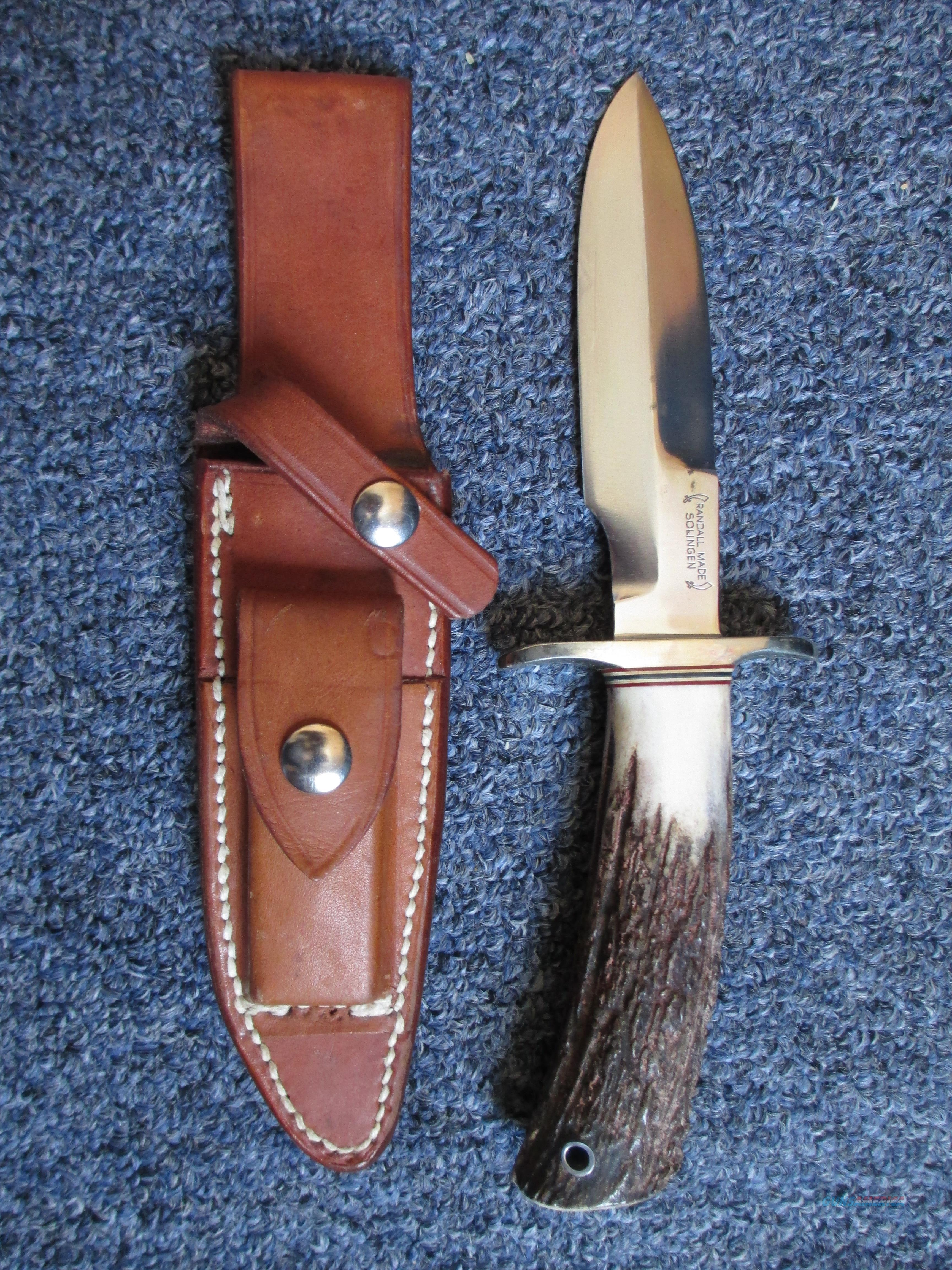 RARE Randall model 5-5 solingen fighter stag handle   Non-Guns > Knives/Swords > Knives > Fixed Blade > Hand Made