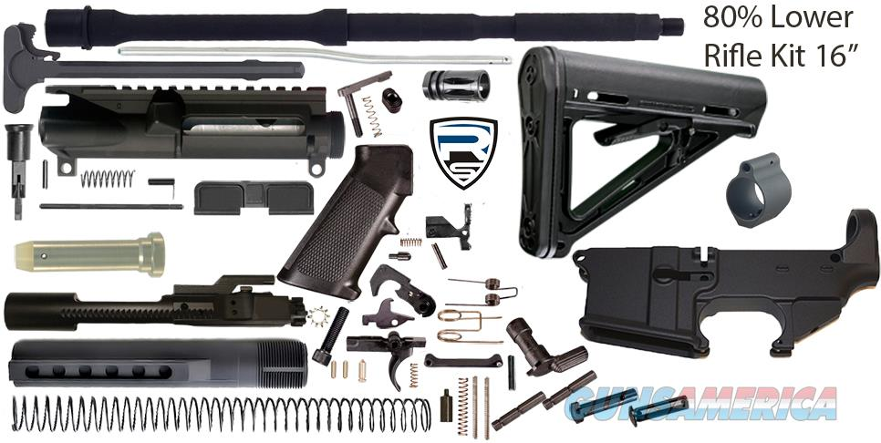 "AR15 Complete 16"" Rifle Build Kit - 80% Lower - 5.56 Nato  Non-Guns > Gun Parts > M16-AR15 > Upper Only"