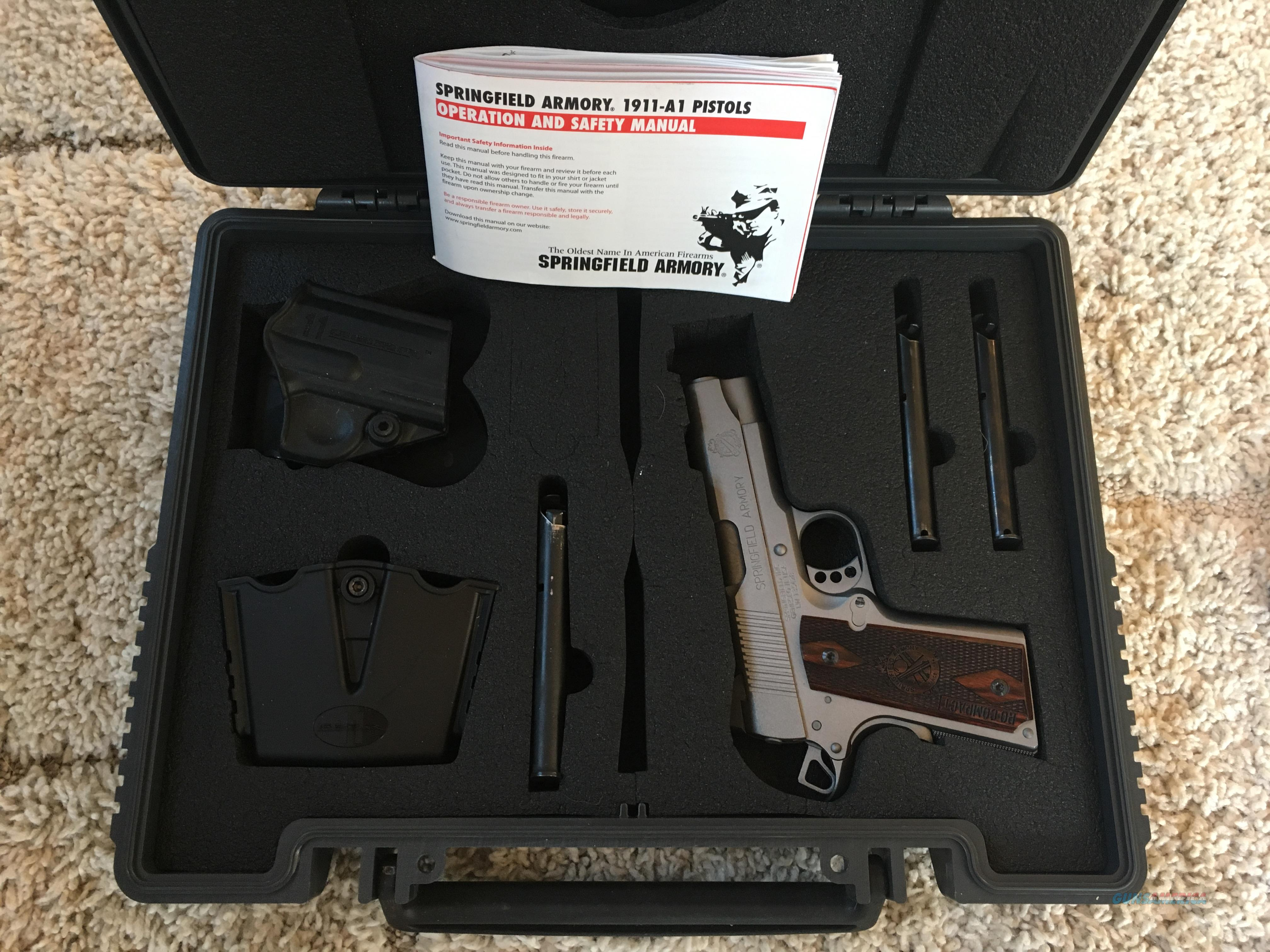 "Stainless Cerakote 1911 Springfield 4"" Range Officer Compact  Guns > Pistols > Springfield Armory Pistols > 1911 Type"