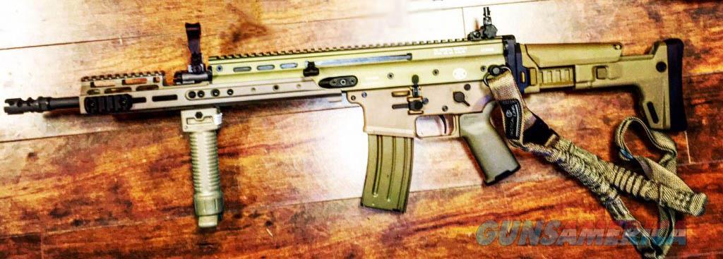 "New Custom SCAR 16s FDE from FN57SALE - Geissele Trigger, KDG Rail & Stock, Military Grade GripPod  & One Point Bungee Sling + 52"" LARGE Custom Cut HARD FDE PELICAN CASE Guns > Pistols > FNH - Fabrique Nationale (FN) Rifles > Semi-auto > SCAR"