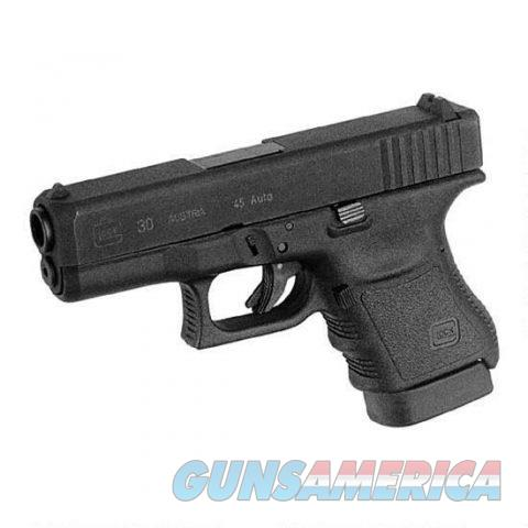 Glock 30 Semi Automatic Subcompact Handgun .45 Auto 3.78? Barrel 10 Rounds Steel Fixed Sights Polymer Black  Guns > Pistols > Glock Pistols > 29/30/36
