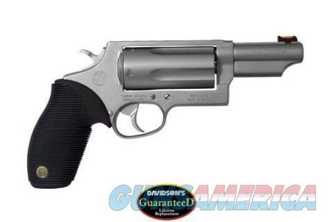Taurus Judge 4510 Revolver .45 Long Colt and .410 Bore 3? Barrel 5 Rounds 3? Chamber Black Ribber Grips Matte Stainless Finish 2-441039MAG  Guns > Pistols > Taurus Pistols > Revolvers