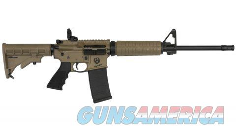 Ruger AR-556 5.56 NATO M4 Flat-Top Autoloading Rifle with Barrett Brown Cerakote Finish  Guns > Rifles > Ruger Rifles > AR Series