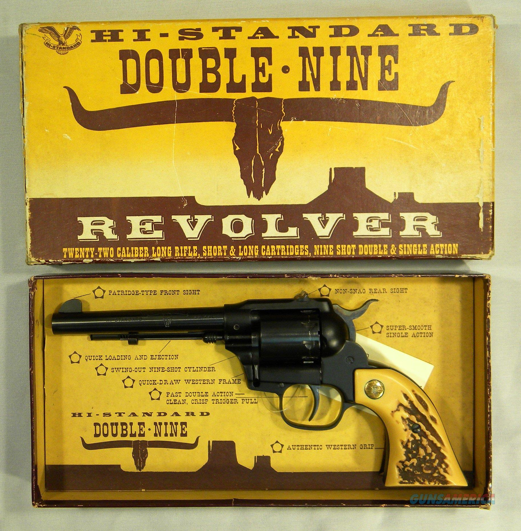 "High Standard ""Double-Nine"" Double-Action .22LR Revolver, As New In Original Box!  Guns > Pistols > High Standard Pistols"