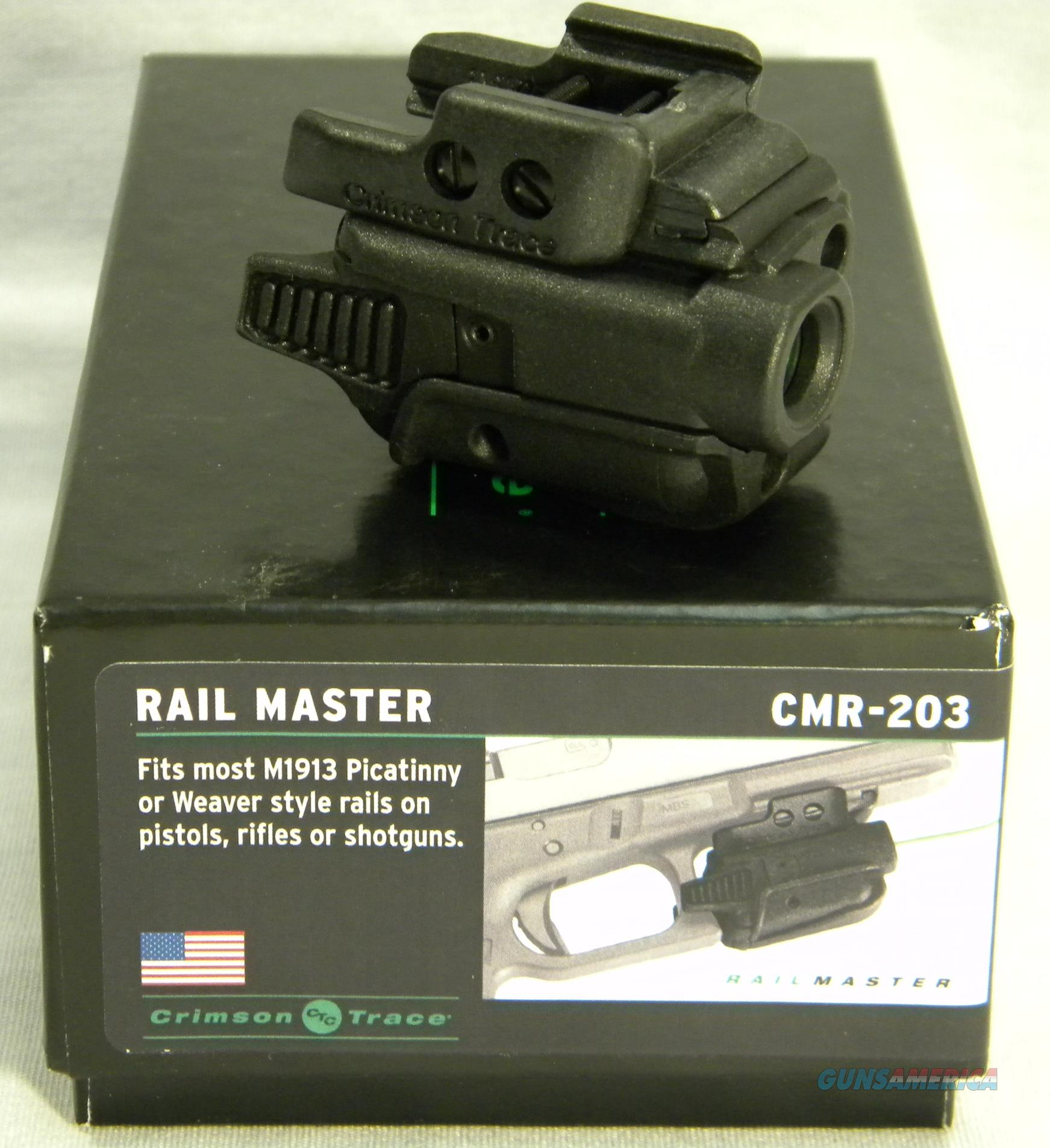"Crimson Trace CMR-203 ""Rail Master"" Green Laser Sight, Crimson Trace Lasers Inventory Reduction Sale!  Non-Guns > Scopes/Mounts/Rings & Optics > Non-Scope Optics > Other"