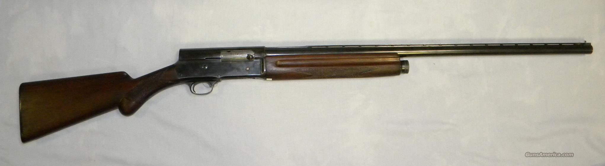 Browning A-5, 12 Ga Semi-Auto Shotgun   Guns > Shotguns > Browning Shotguns > Autoloaders > Hunting